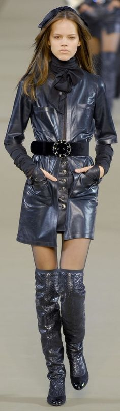 Chanel ~ Couture Leather Mini Dress