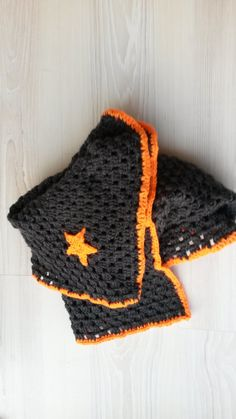 Haken, gehaakt, crochet, watdoetvanessanu, zoet geluk, present, sky, orange flour , deken, granny