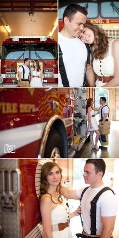 Firehouse engagement shoot! Thanks Jessica for the awesome pictures, we kinda love you haha