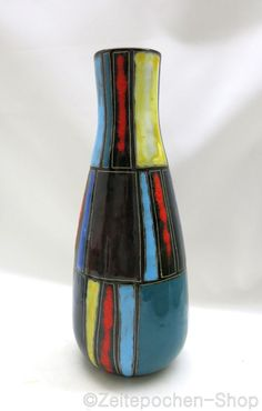 Lu Klopfer Lipp Mehring Vase - 50er Jahre, leichter Defekt