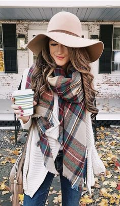 NYC Blanket Scarf. Winter Scarf OutfitWool Hat OutfitFall ... d205ace55dd1