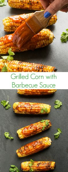 The ultimate 10-minute side dish recipe, your family will love this fast and easy grilled corn brushed with sweet and smoky barbecue sauce.