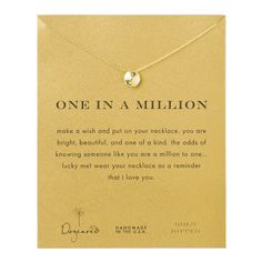 one in a million sand dollar necklace, gold dipped #dogeared #sharethehappy