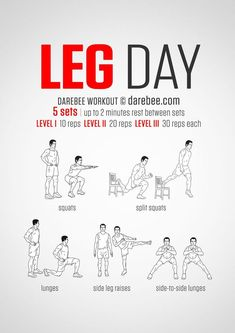 legs workout for all fitness levels. Visual guide: print & use. No-equipment legs workout for all fitness levels. Visual guide: print & use.No-equipment legs workout for all fitness levels. Visual guide: print & use. Leg Workout At Home, Gym Workout Tips, Fitness Workouts, At Home Workouts, Week Workout, Kickboxing Workout, Dumbbell Workout, Workout Routines, Body Workouts