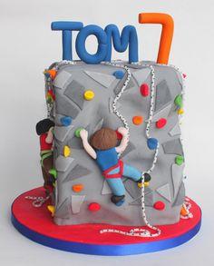 climbing wall cake