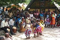 Marroons performing a cultural dance