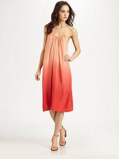 My wife would look great in this Sherleen Silk Ombré Dress from Saks.com on our trip.  Lightweight, attractive, and unique.  #SaksLLTrip