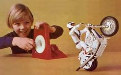 Evil Knievel Stunt Cycle. My brother had this &  we played with it so much. Great memories!!