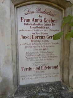 Grabinschrift auf dem St. Marxer Friedhof.  Friedhöfe, Cemeteries, Wien, Vienna Ghosts, Vienna