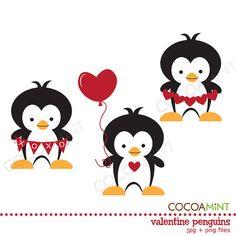 Valentine Penguins Clip Art $2