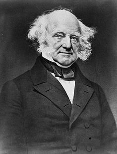 Martin Van Buren. The first president born in the united states.