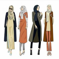 Ideas Fashion Illustration Sketches Hijab For 2020 Muslim Fashion, Modest Fashion, Hijab Fashion, Fashion Art, Trendy Fashion, Style Fashion, Retro Fashion, Illustration Mode, Fashion Illustration Sketches