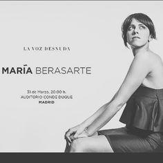 Cosas que cualquier persona de bien no debería perderse: MARÍA BERASARTE en el Auditorio Conde Duque. MA-RA-VI-LLA.  #lavozdesnuda #mariaberasarte #condeduque #auditoriocondeduque #madrid #fado #maravillapura #clase #planazo #concierto #concert #music #musica #mujeresmaravillosas #art #arte #musicalconcept #ellas #si #cultura #culture #musicCulture #gracias @maria_berasarte by angelduqueofficial