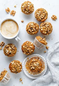 Wonderful morning glory zucchini carrot muffins that are naturally sweetened with pure maple syrup and filled with delicious mix-ins like coconut, raisins and nuts. These healthy zucchini carrot muffins have a boost of nutrition from oat flour and make the best freezer-friendly breakfast or snack that's great for kids! #muffins #zucchini #healthybreakfast #healthysnack #carrot #kidfriendly #freezerfriendly Banana Zucchini Muffins, Morning Glory Muffins, Healthy Zucchini, Unsweetened Applesauce, Love Eat, Perfect Breakfast, Sweet Breakfast, Gluten Free Baking, Baked Goods