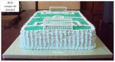 http://patyshibuya.com.br/ Bolo Decorado by Paty Shibuya Decorated Cake by Paty Shibuya Bolo Campo de Futebol