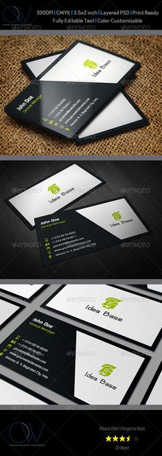 "Classic Business Card v2  #GraphicRiver                                	 Business Card Description: Classic Business Card was designed for exclusively corporate and small scale companies. Also it can be used for variety purposes like printing, designing ID. Click on preview image to see further details. I hope you like it guys.  	 Business Card Featured:  Fully Layered PSD files   Easy Customizable and Editable   3.5"" x 2"" (3.75"" x 2.25"" with bleed setting)   CMYK Colors   300 DPI…"