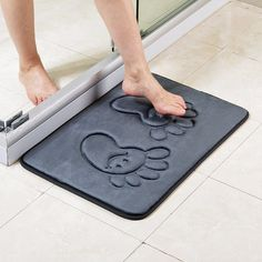 Bath Mats Bathroom Kitchen Door Floor Tub Shower Safety Mats Anti-bacteria Professional With Drain Hearty Non Slip Bath Mat With Suction Cups Bathroom Products