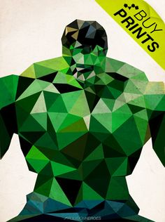 Polygon heroes: Hulk