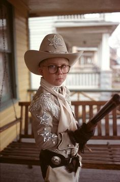 Ralphie from Christmas Story is haunted by the phrase: You'll shoot your eye out, Kid.