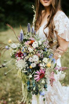 Floral Wedding, Wedding Colors, Lace Wedding, Wedding Rings, Bohemian Wedding Flowers, Wildflowers Wedding, Boho Wedding Bouquet, Wildflower Wedding Bouquets, Back Garden Wedding