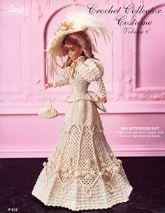 Image detail for -1895 Afternoon Suit Paradise 6 for Barbie Doll Crochet Pattern Leaflet