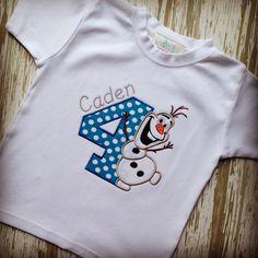 Olaf Birthday Shirt by LillysBowtique on Etsy, $23.00