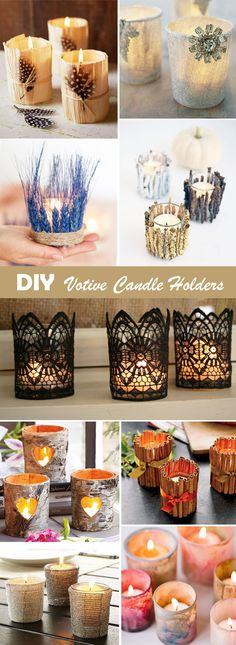 DIY gorgeous votive candle holders wedding decor ideas
