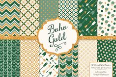Emerald Green Glitter Digital Papers by Amanda Ilkov on Creative Market
