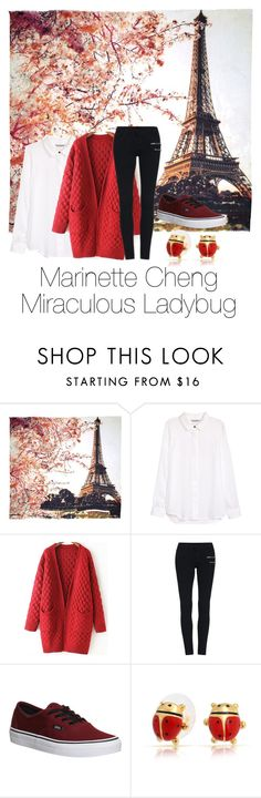 """Marinette Chang - Miraculous Ladybug"" by nmiller526 ❤ liked on Polyvore featuring Fay et Fille, H&M, Vans, Bling Jewelry, women's clothing, women's fashion, women, female, woman and misses"