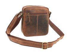 Мужская кожаная сумка-мессенджер Visconti S-8 - (oil tan)