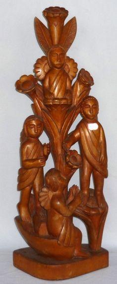 Mestre Expedito. Sagrada Família. 110 cm.