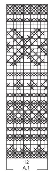 Grydelap med flerfarvet mønster, strikket rundt i DROPS Paris