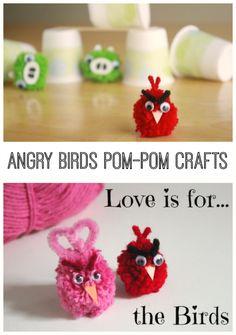 Angry Birds Pom Pom Crafts