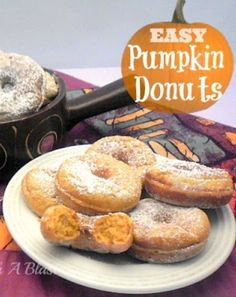 Fall flavors at it's best in these Pumpkin Donuts {including recipe for homemade Pumpkin Pie Spice!} #PumpkinRecipe #PumpkinDonuts #PumpkinPieSpice