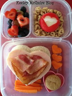 School Lunch Made Easy: Valentine's Day Club Sandwich for Kids