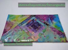 """""""Flourite Fantasy"""" Batik Fabric Charm Pack 12.7 x 12.7 or 5"""" x 5"""" pack of 42""""charms"""" $16.95"""
