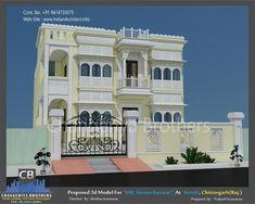 Ethnic Home Decor, Indian Home Decor, Modern Architectural Styles, Duplex House Design, Indian Architecture, Futuristic Design, House Elevation, Dream House Plans, Floor Design