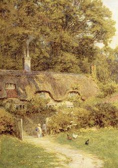 Helen Allingham - Cottage at Farringford