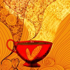 A cool day today, tea steam, with healing aroma filled steam. What my #Tea says to me November 4th. Cheers.