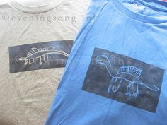 Children's drawing turned into custom stenciled t-shirts!