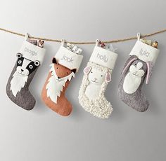 christmas stockings The Everymoms Favorite Holiday Stockings for the Whole Family. We love the Christmas season just as much as you do, so weve rounded up some of our favorite stockings this season no matter your decoration style. Baby Christmas Stocking, Kids Christmas Stockings, Baby Stocking, Kids Stockings, Felt Christmas Ornaments, Handmade Christmas, Christmas Fun, Christmas Sticking, Burlap Stockings
