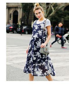 2016 Fashion Floral Dress Navy Plus Size Navy Floral Dress, Plus Size, Casual, Shirts, Dresses, Fashion, Vestidos, Moda, Fashion Styles