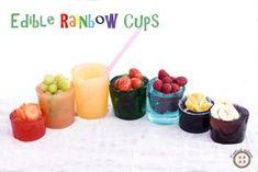 Edible Rainbow Cups | Tvořivá Mama