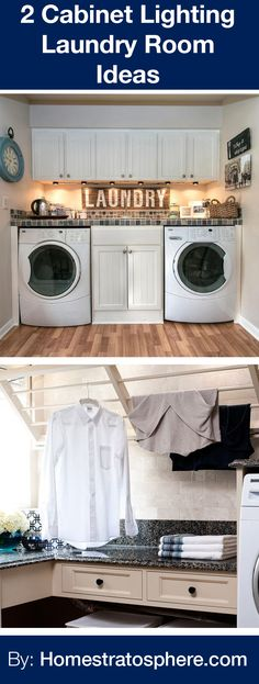 2 Cabinet Lighting Laundry Room Ideas