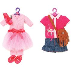"""My Life As Cowgirl and Ballet Set Doll Outfits for 18"""" doll"""