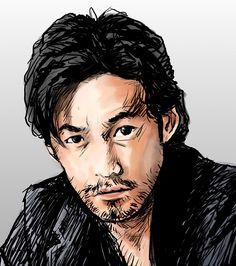 竹野内豊さん #似顔絵 #イラスト #俳優 #竹野内豊 #シンゴジラ #caricature #illustration #actor #yutakatakenouchi #drawing
