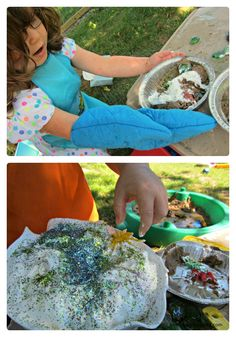 Fun and messy idea: Mud pie making play date for your kids and their friends!
