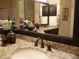 Framed Mirror Orb Fixtures Bathroom MirrorsMaster BathroomVanity TopsSt LouisTraditionalVanitiesBathroom IdeasPhotos