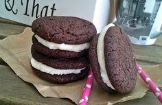από σπίτι a la whoopie pie Whoopie Pies, Oreo, Cookies, Chocolate, Nice, Desserts, Easy, Recipes, Food