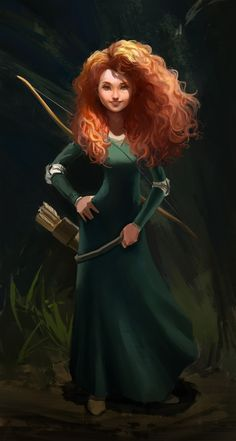 Fanart of Merida from Brave! Took me a while on this one, hope you like it Princess Merida Fanart Disney Pixar, Disney Fan Art, Disney And Dreamworks, Disney Love, Disney Magic, Disney Stuff, Brave Merida, Merida Disney, Highlands